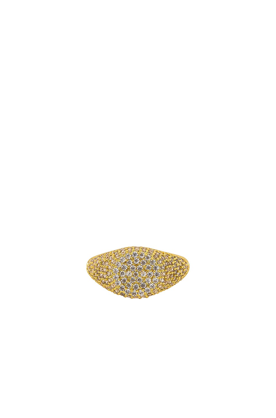 Luv AJ The Pave Signet Ring in Gold