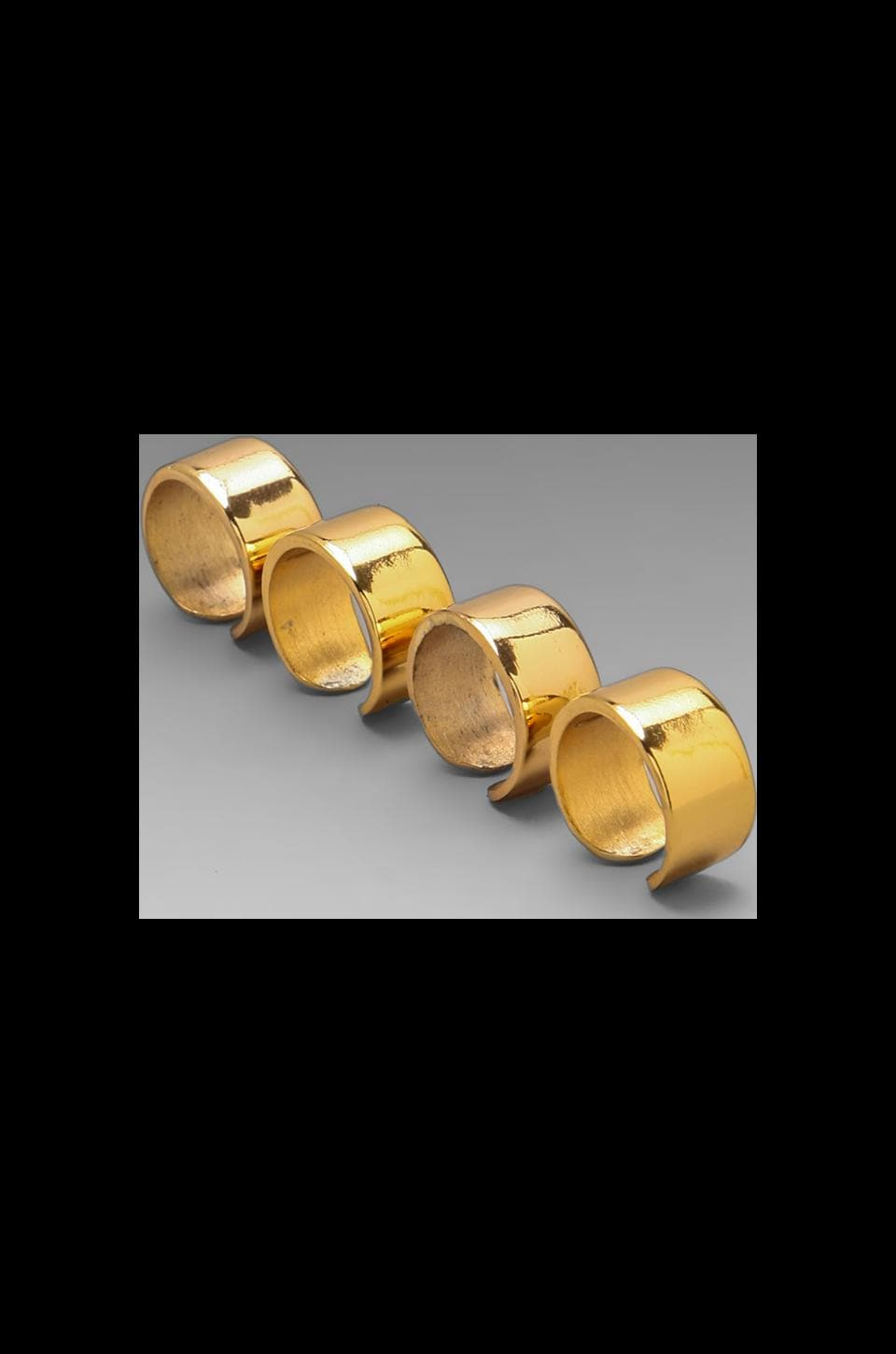 Luv AJ The Plain Ring Short (Set of 4) in 24 Kt Gold