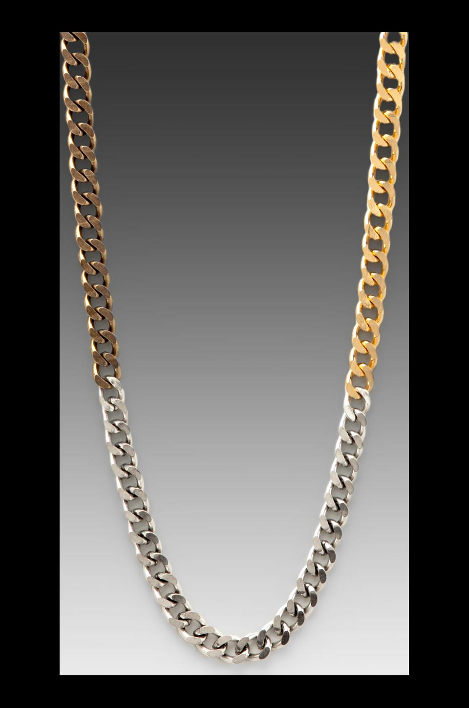Luv AJ The Ombre Chain Necklace in Gold/Silver