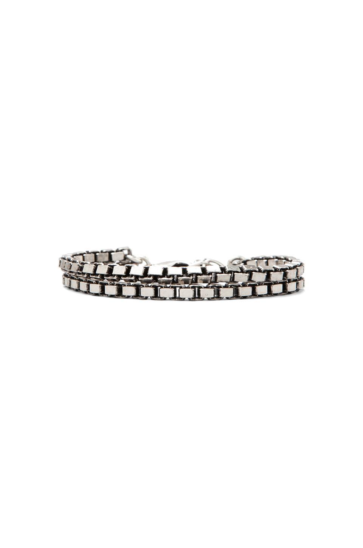 Luv AJ Shark Tooth Charm Bracelet in Silver