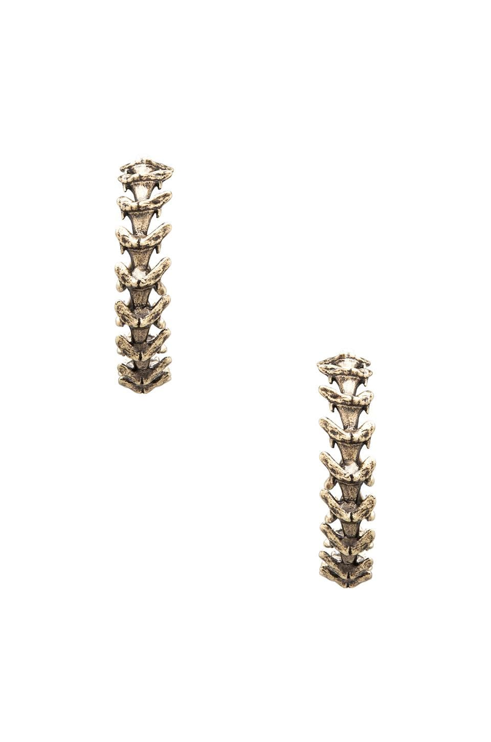 Luv AJ Shark Tooth Hoop Earrings in Brass