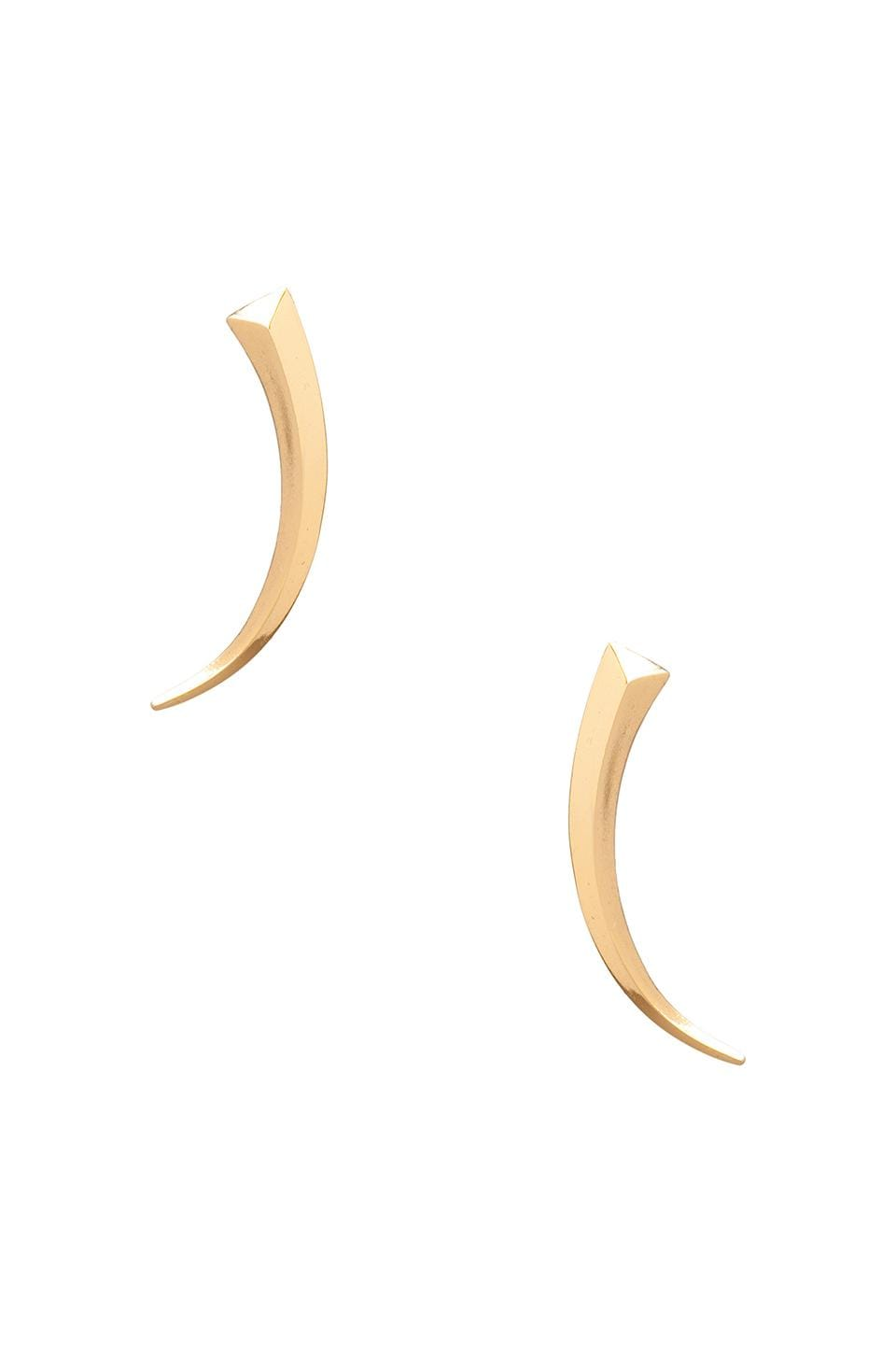 Luv AJ The Tusk Earrings in Gold
