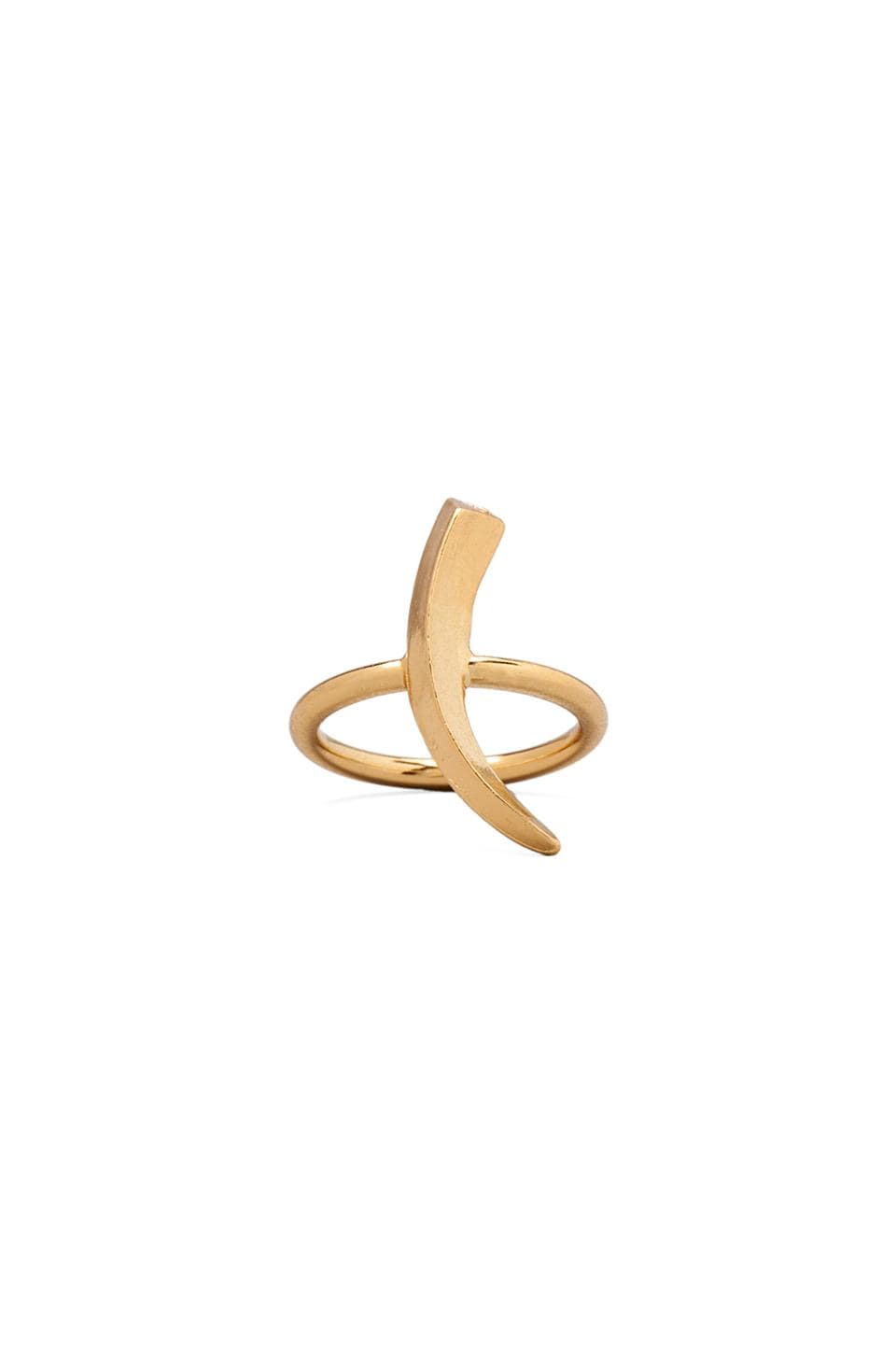 Luv AJ The Tusk Ring in Gold
