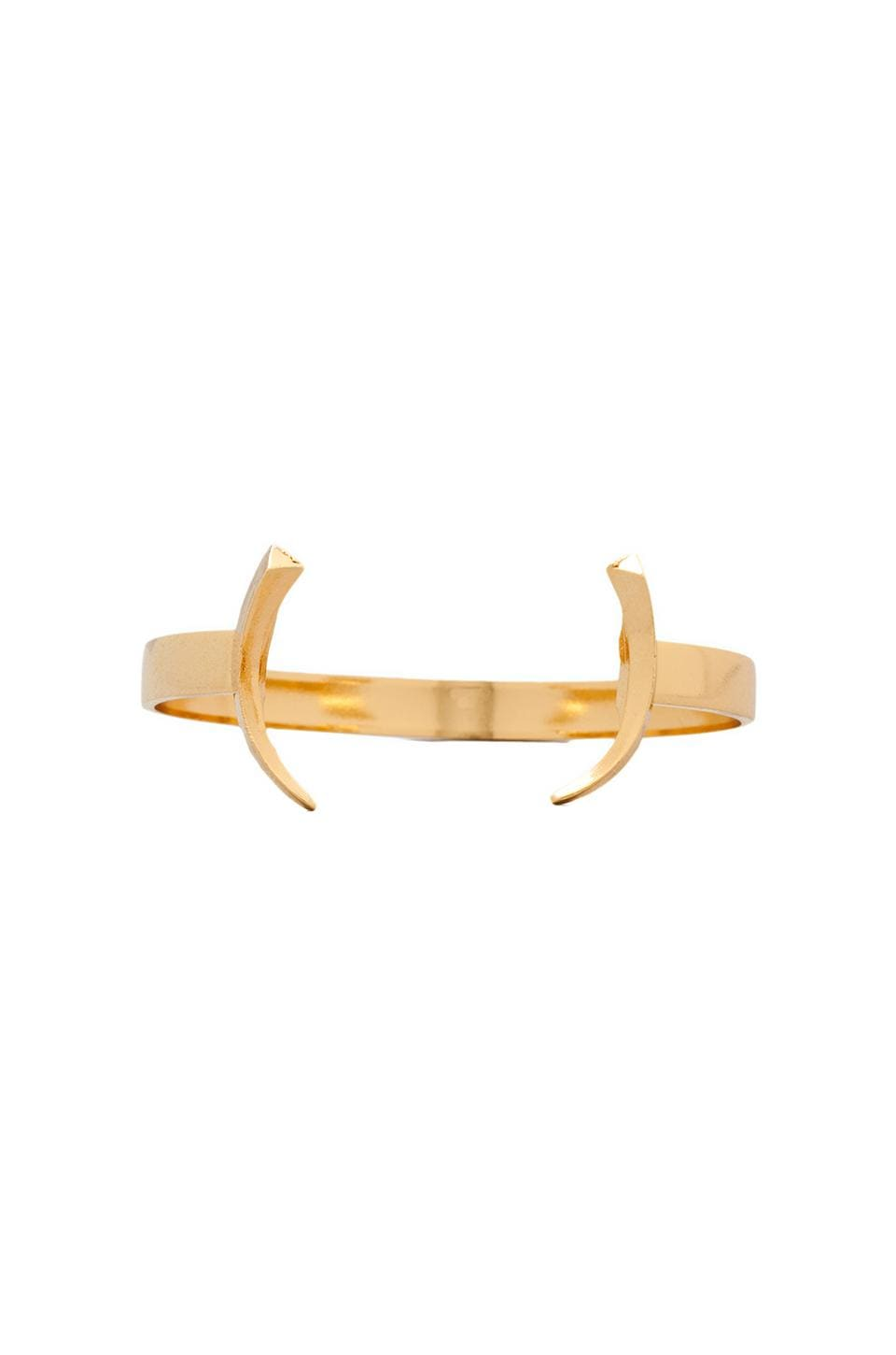 Luv AJ The Tusk Bangle in Gold
