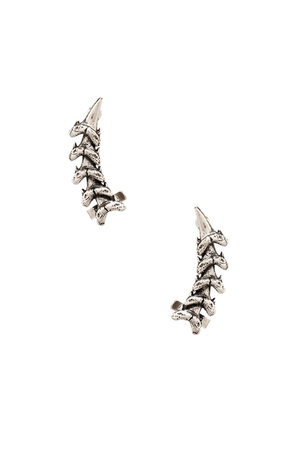Luv AJ Shark Tooth Ear Cuff in Silver