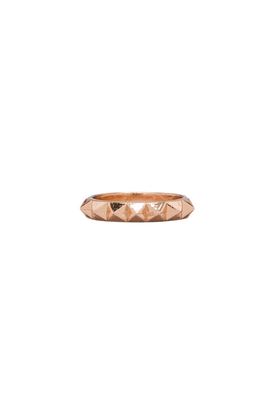 Luv AJ The Half Punk Stud Ring in Rose Gold