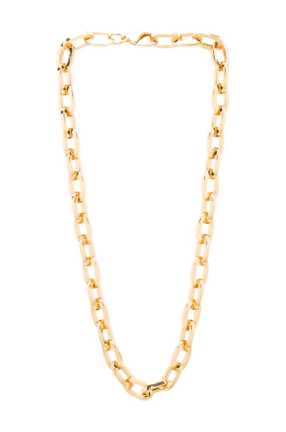 Luv AJ The Link Necklace in Gold