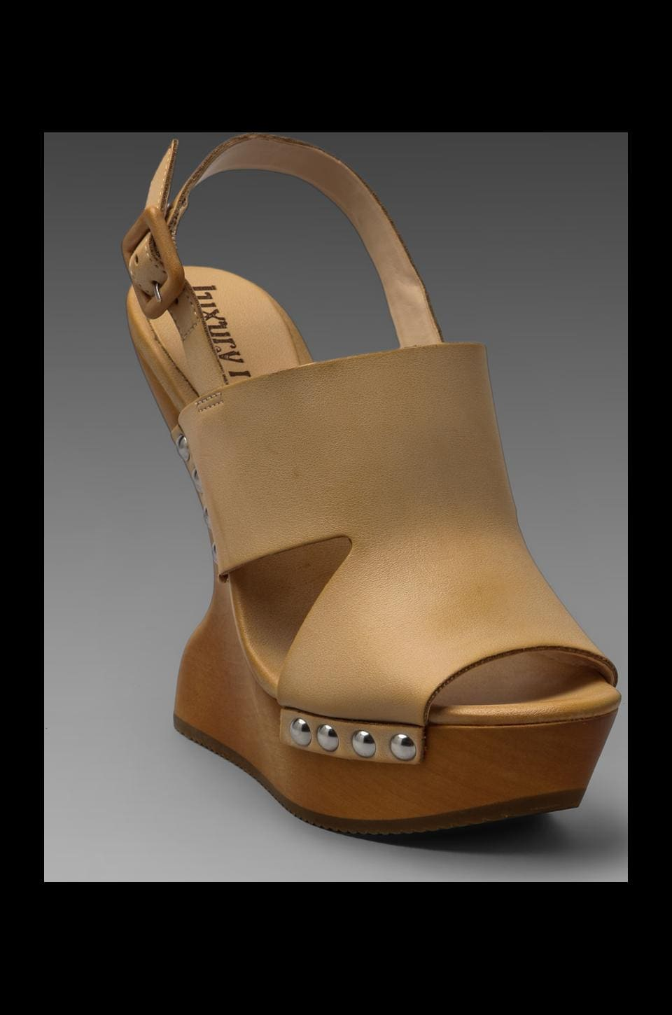 Luxury Rebel Giada Wedge Sandal in Flesh