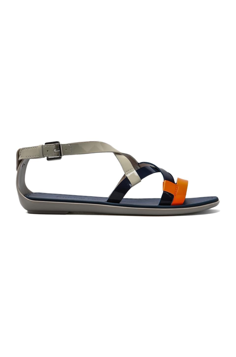 Luxury Rebel Swing Sandal in Deep Blue/Latte