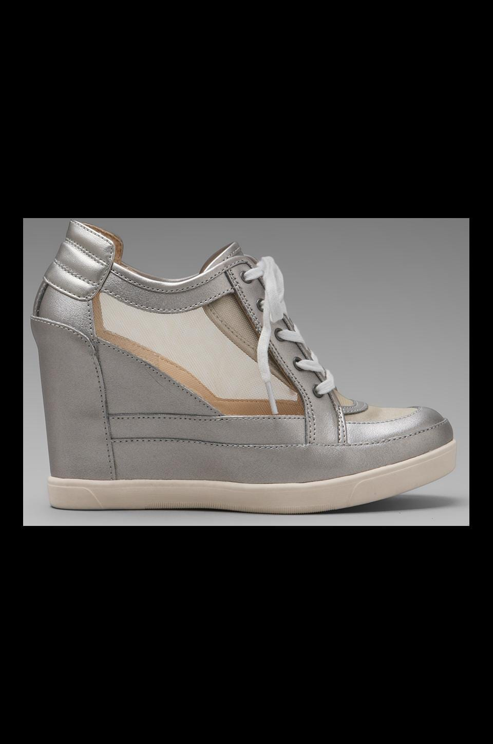 Luxury Rebel Carlton Mesh Wedge Sneaker in Cement