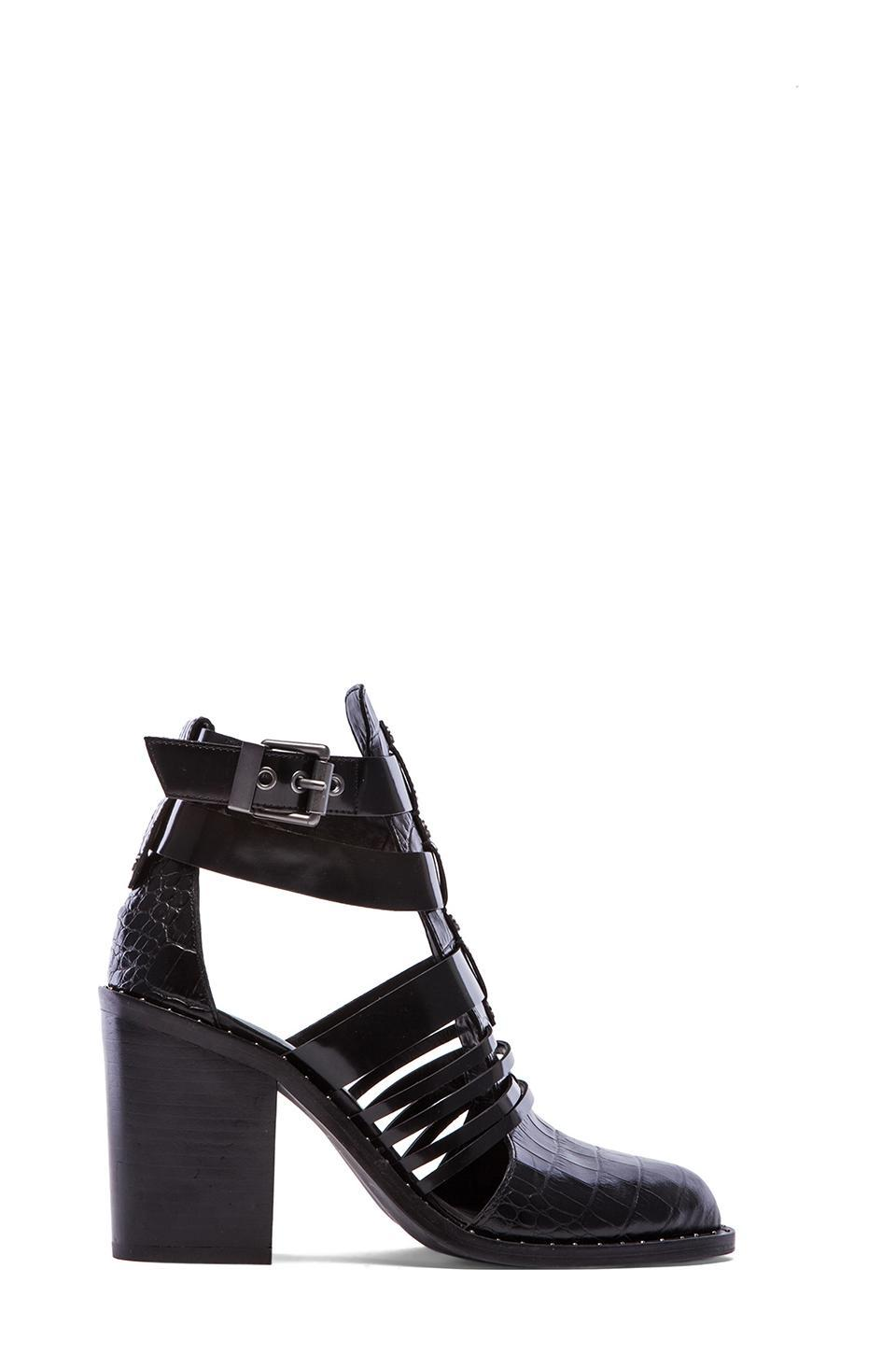 Luxury Rebel Mandy Cut Out Booties in Black