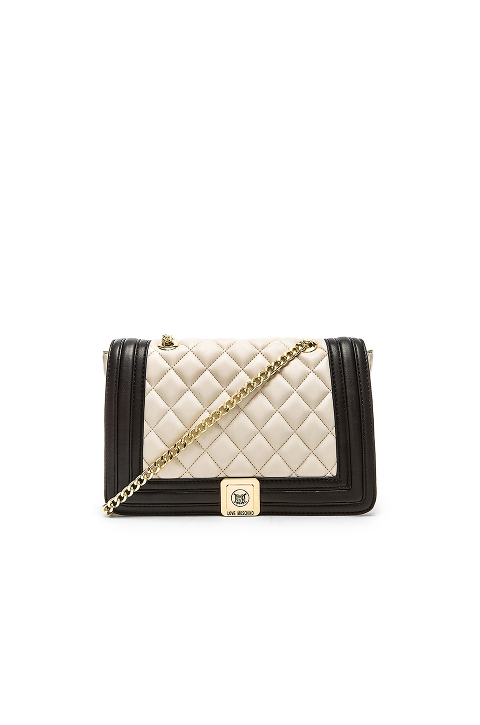 Love Moschino Quilted Shoulder Bag in Cream & Black | REVOLVE : moschino quilted shoulder bag - Adamdwight.com