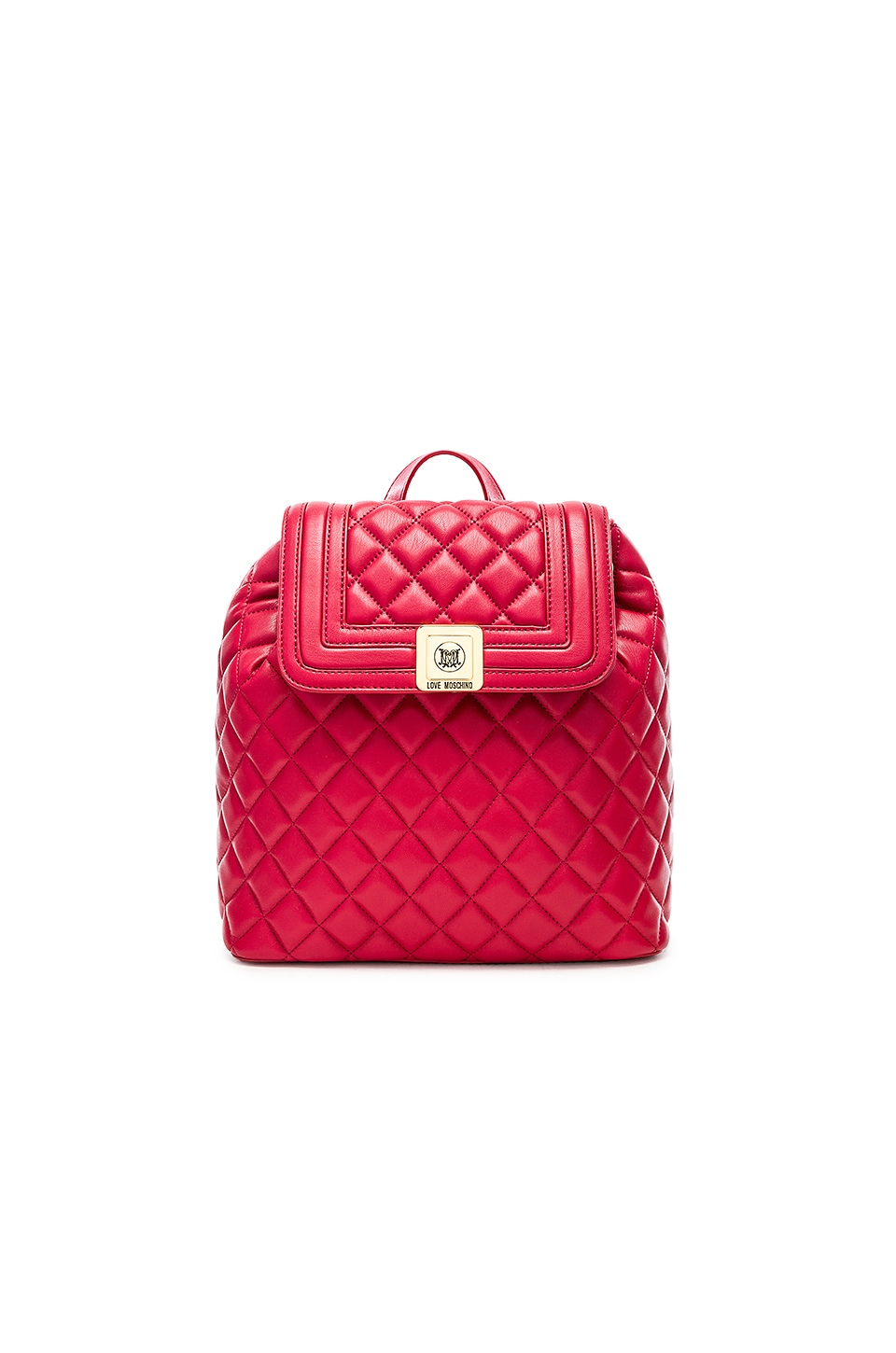 9d9ca694b0 Love Moschino Quilted Backpack in Red | REVOLVE