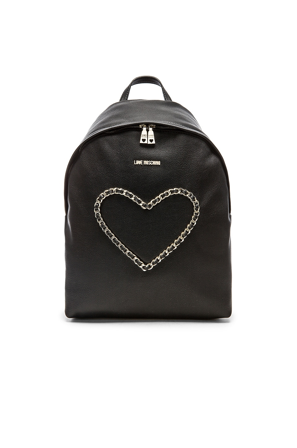 Love Moschino Heart Backpack in Black