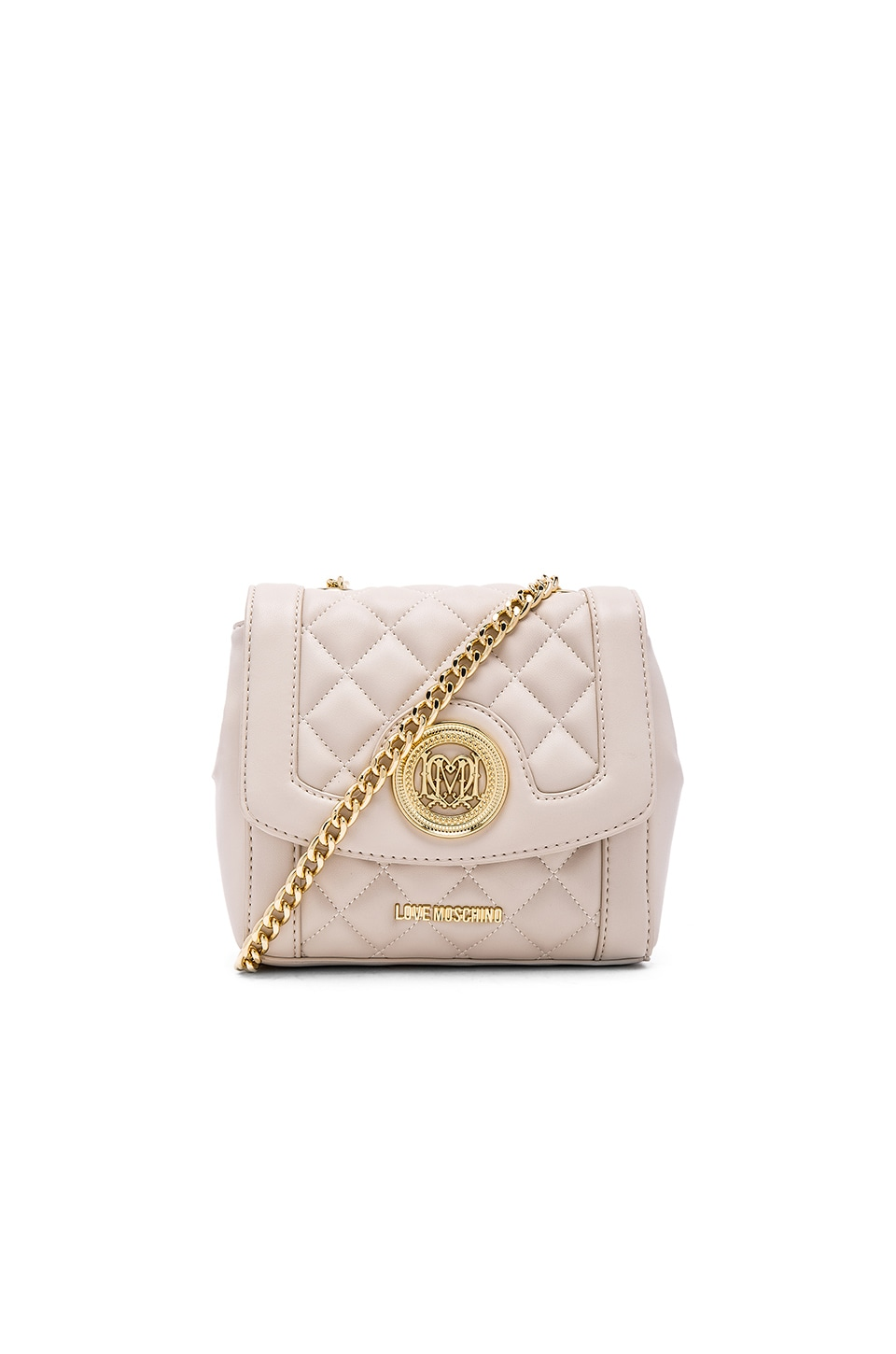 Love Moschino Quilted Crossbody in Ivory