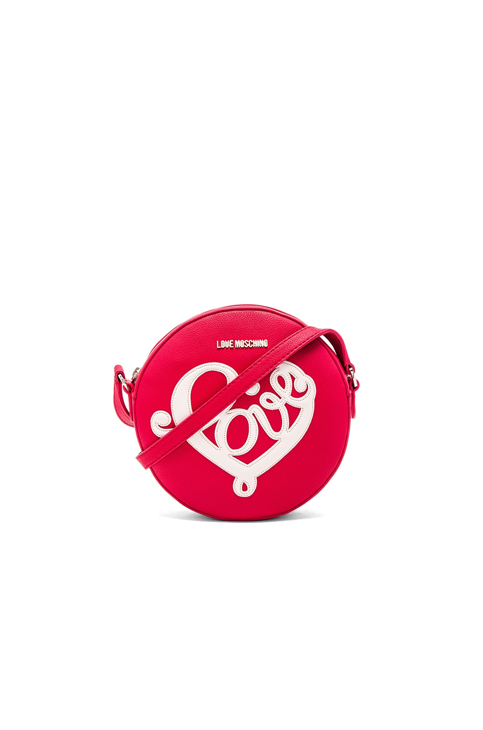 Love Moschino love Heart Circle Crossbody in Red