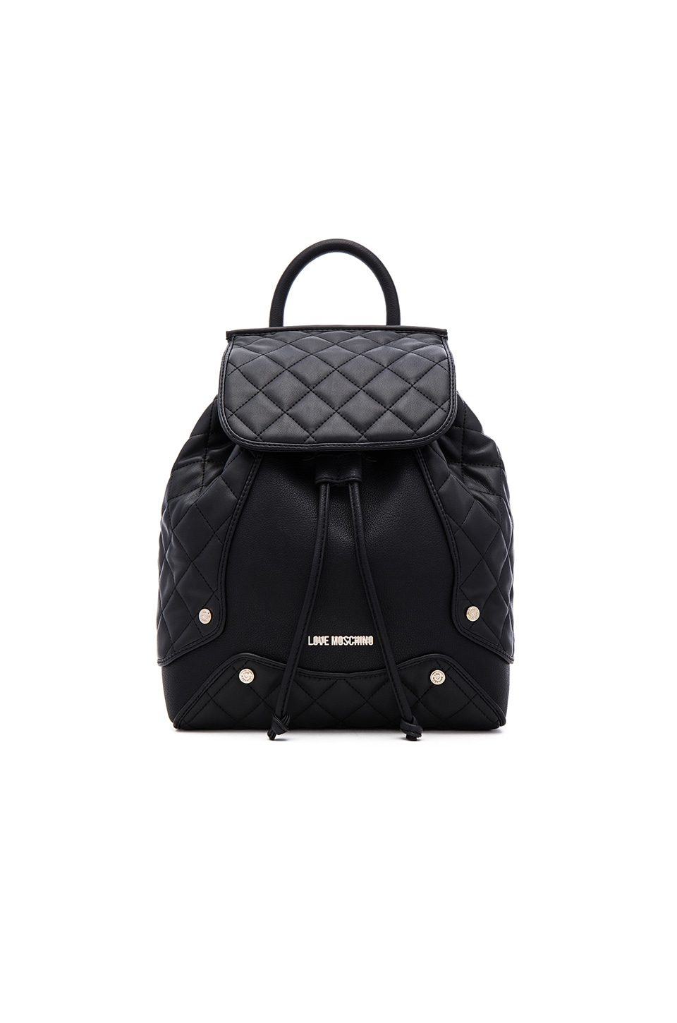 Love Moschino Fashion Quilted Backpack in Black