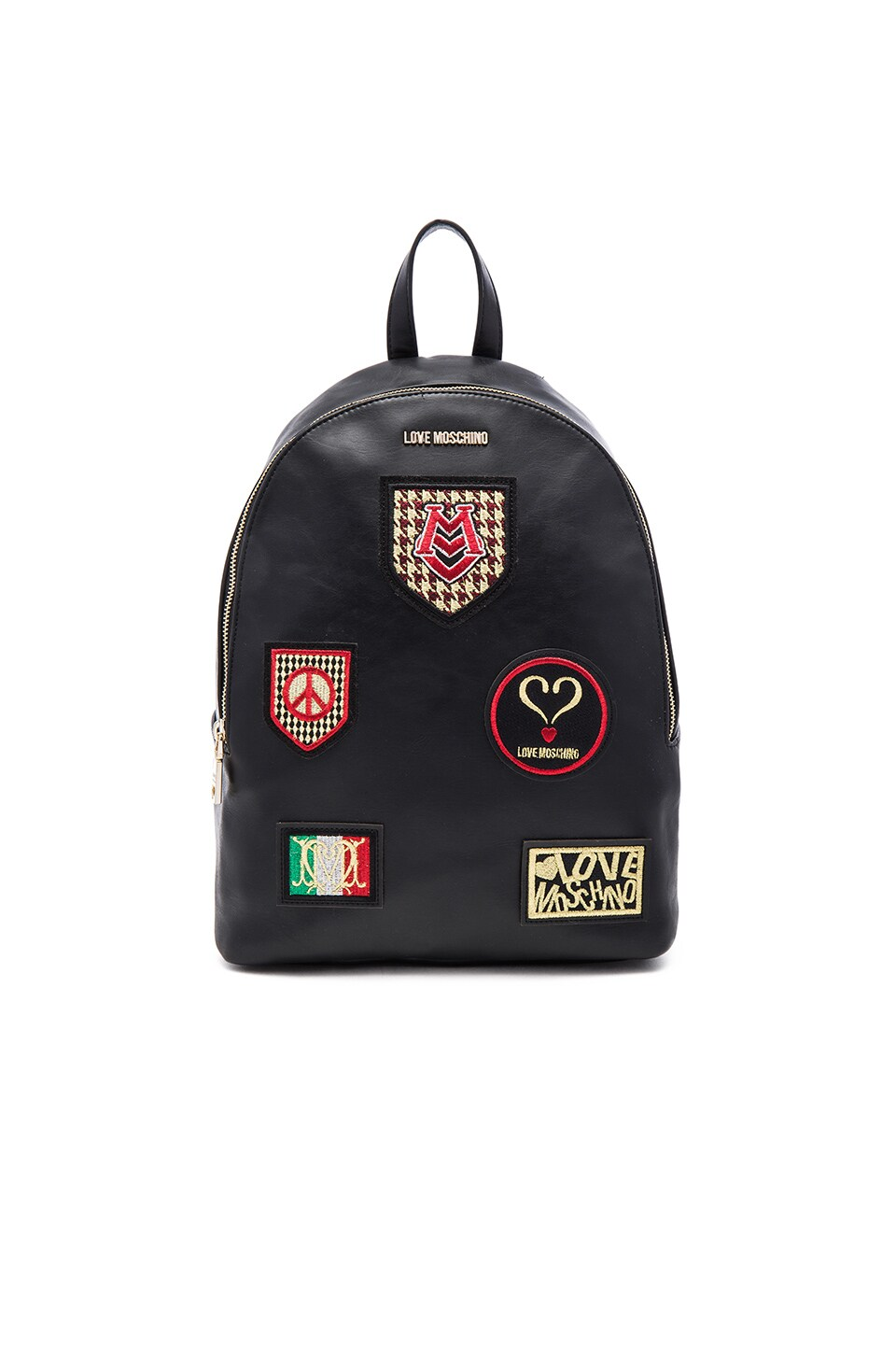 Love Moschino Patch Backpack in Black