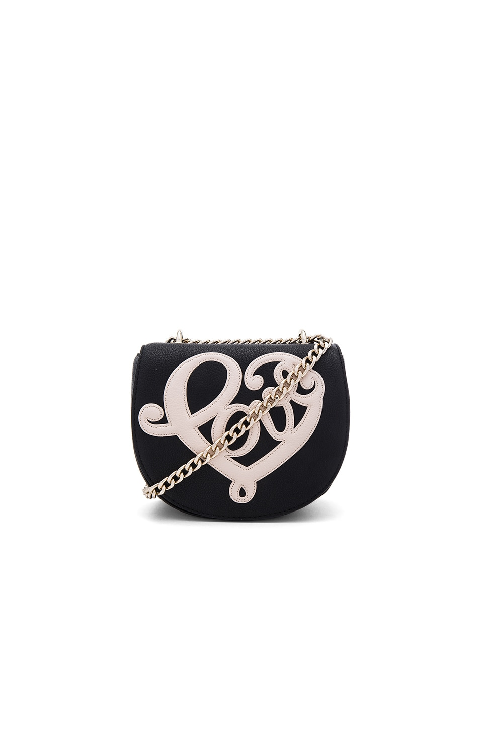 Love Moschino Love Heart Crossbody in Black