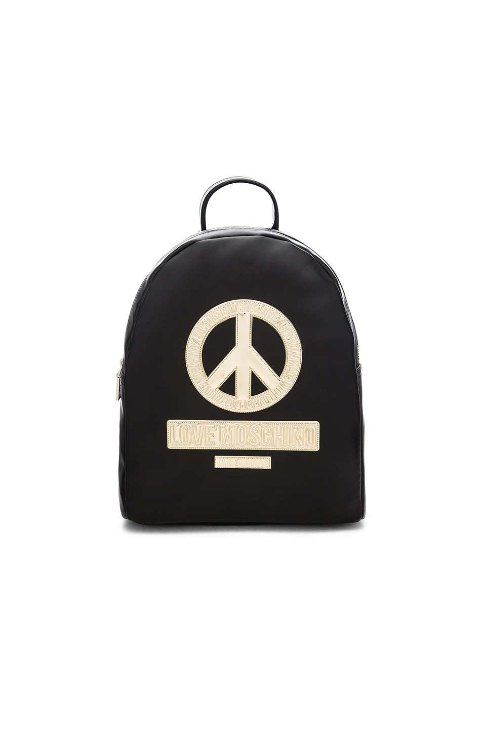 Love Moschino Peace Backpack in Black