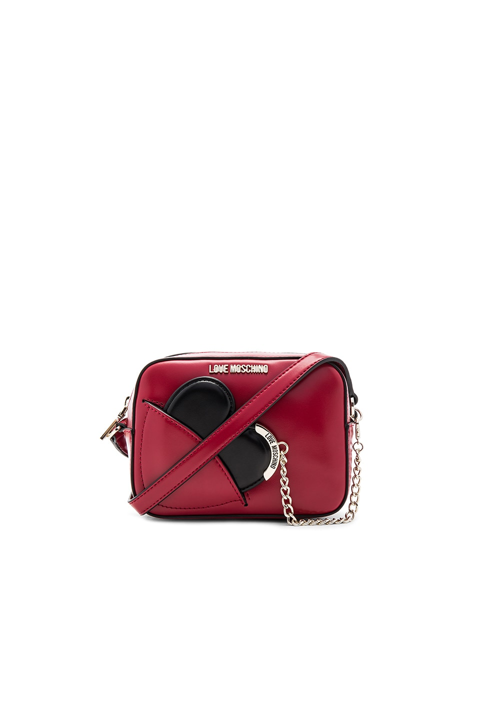 Love Moschino Heart Camera Bag in Red