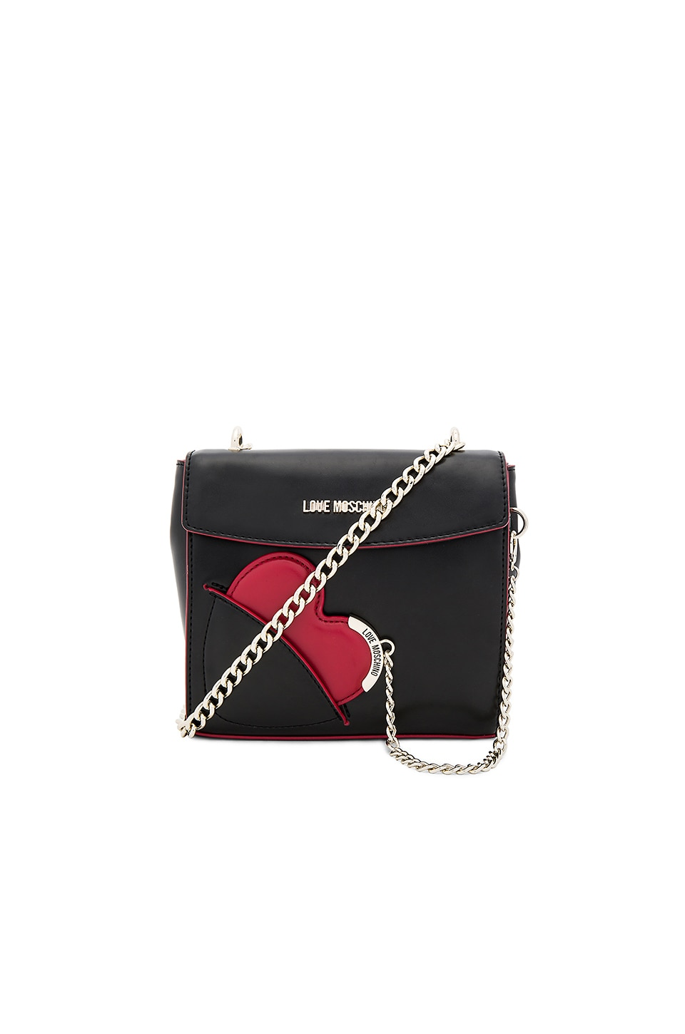 Love Moschino Heart Crossbody Bag in Black