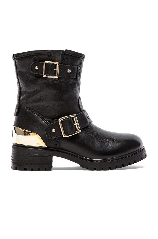 Love Moschino Heart Romance Boot in Nero Black Calf