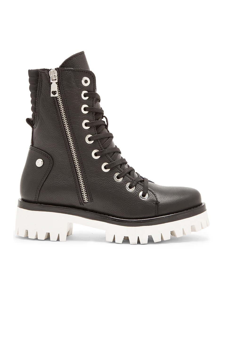 Love Moschino Military Boot in Black