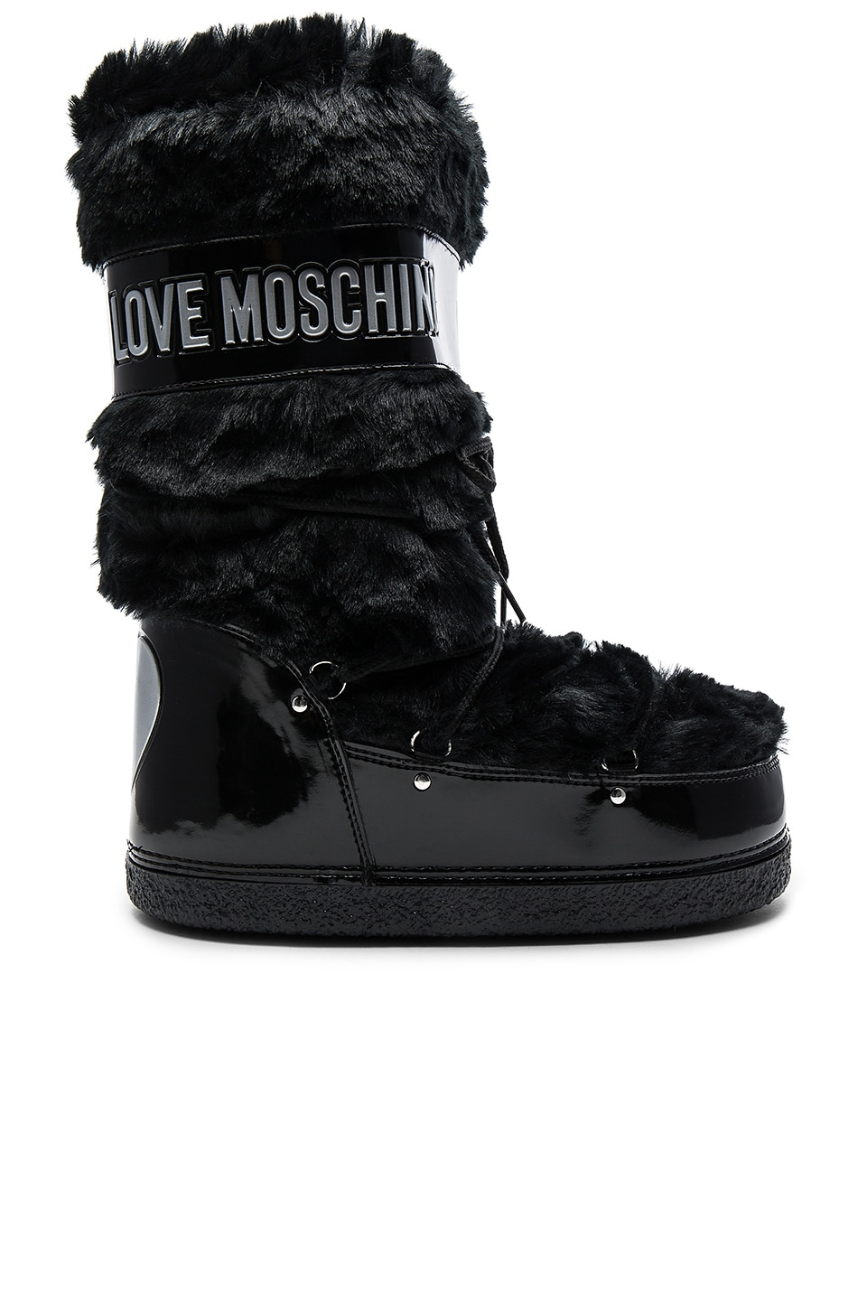 Love Moschino Faux Fur Snow Boot in Black