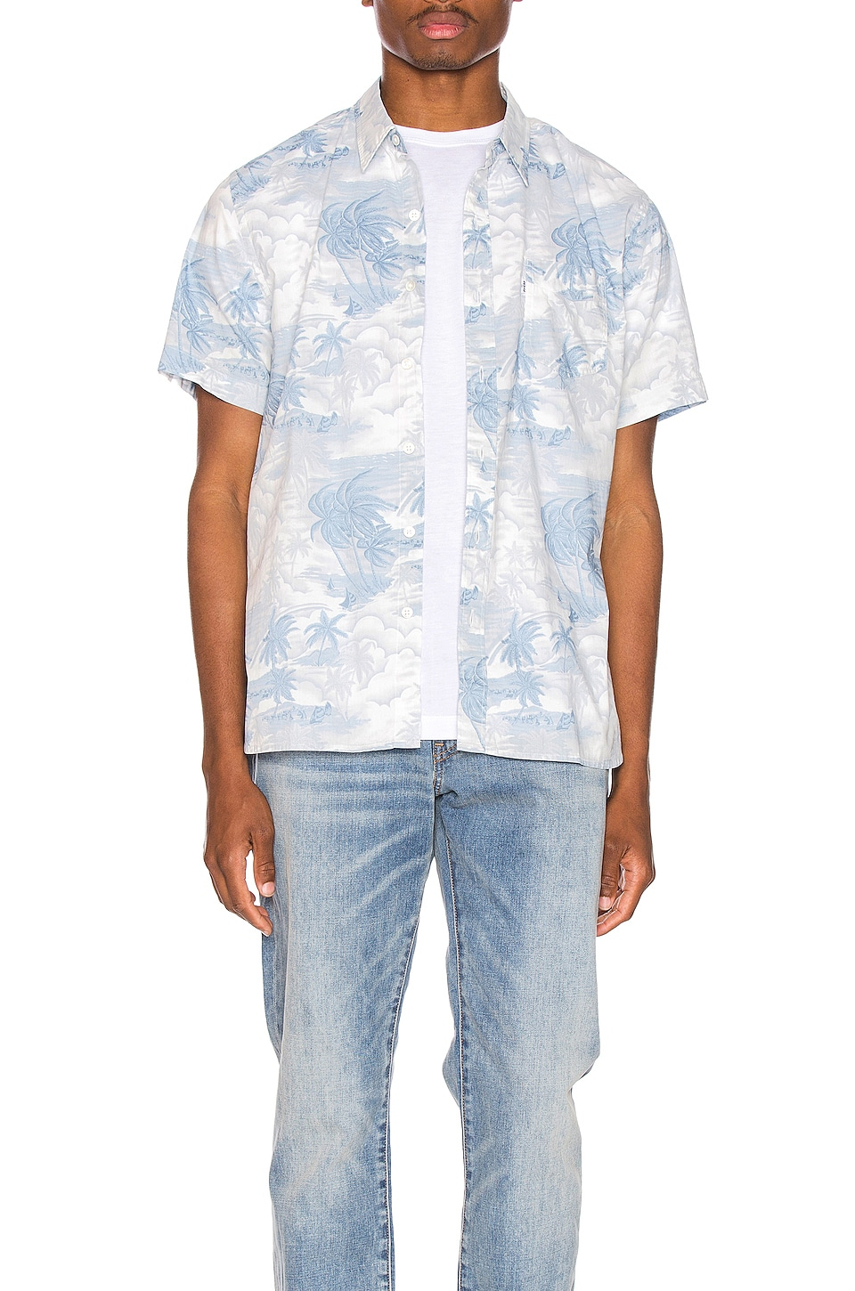 a0f9fd429 Levi's Premium Short Sleeve Sunset Pkt Shirt In Blue. In Acid Hawaiian  Dusty Blue