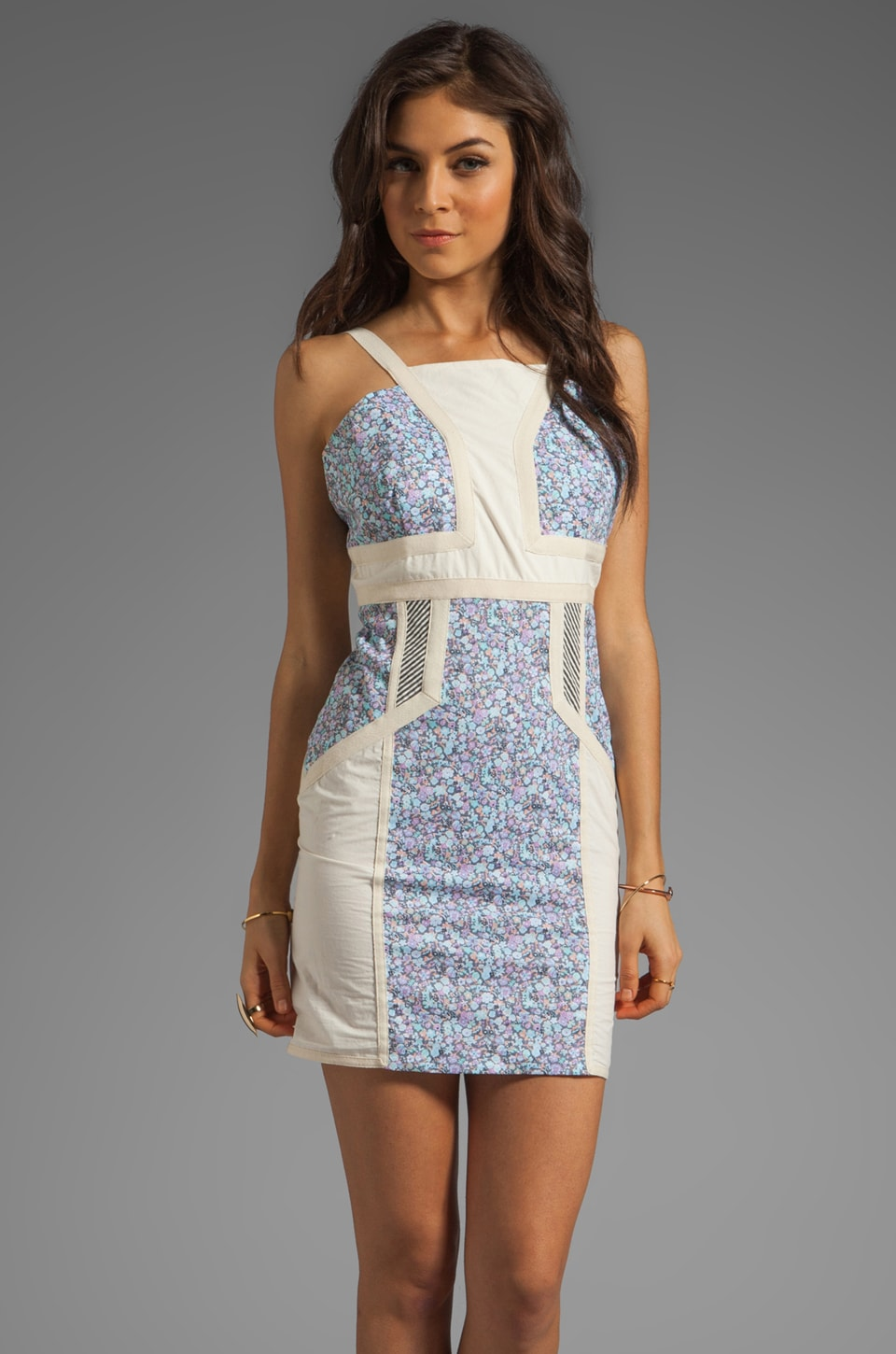 Love Zooey Fitted Strap Dress in Floral