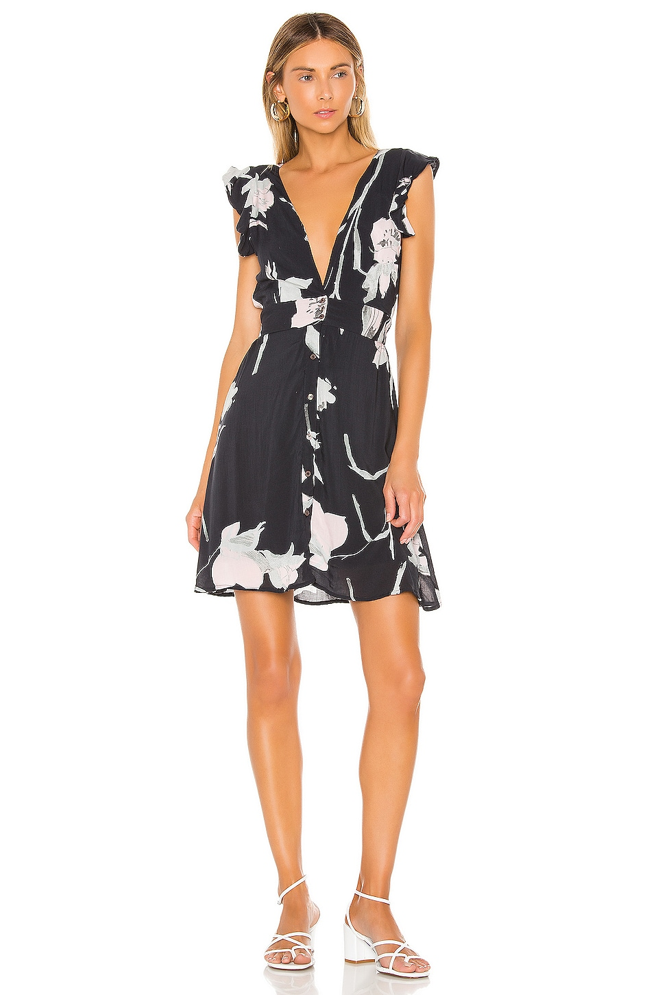 Maaji Canadian Goldenrod Mini Dress in Black Floral