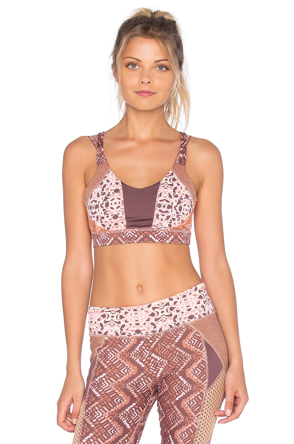 Maaji Tread Fire Sports Bra in Multi