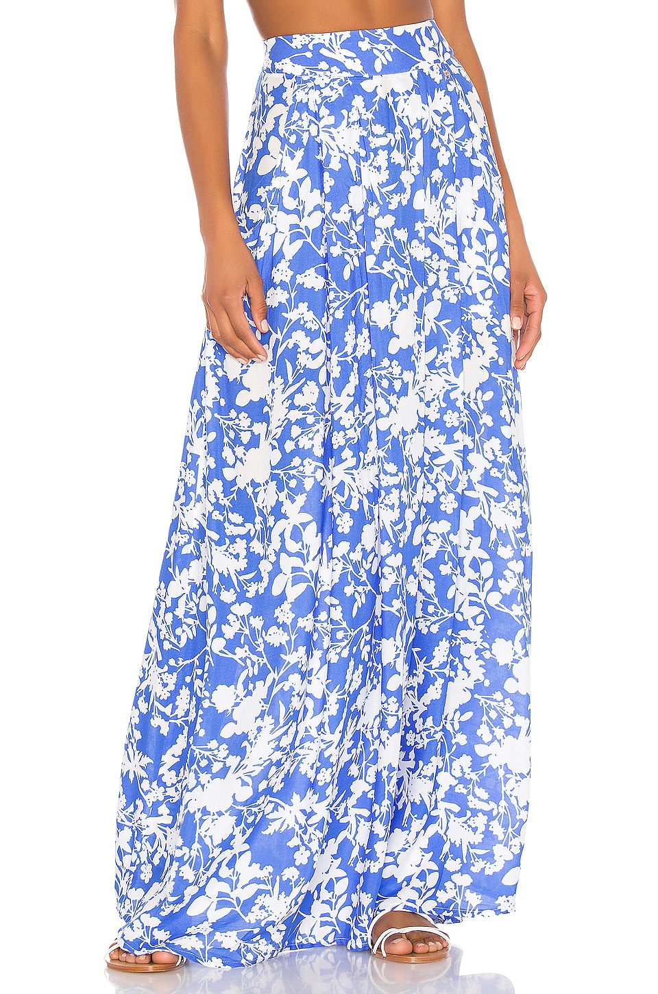 Maaji Smile And Wink Skirt in Blue & White Floral
