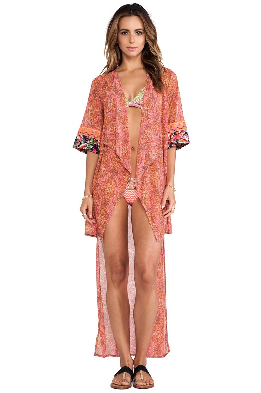 Maaji Asymmetric Hem Kimono in Mary Mack