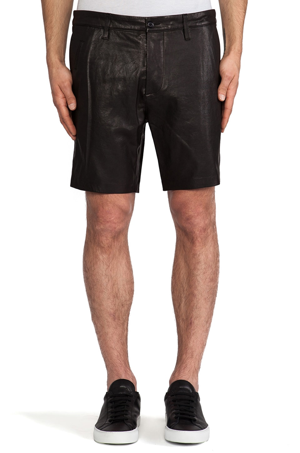 Mackage Manuel Leather Short in Black