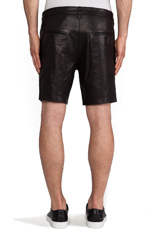 Mackage Manuel Leather Short in Black