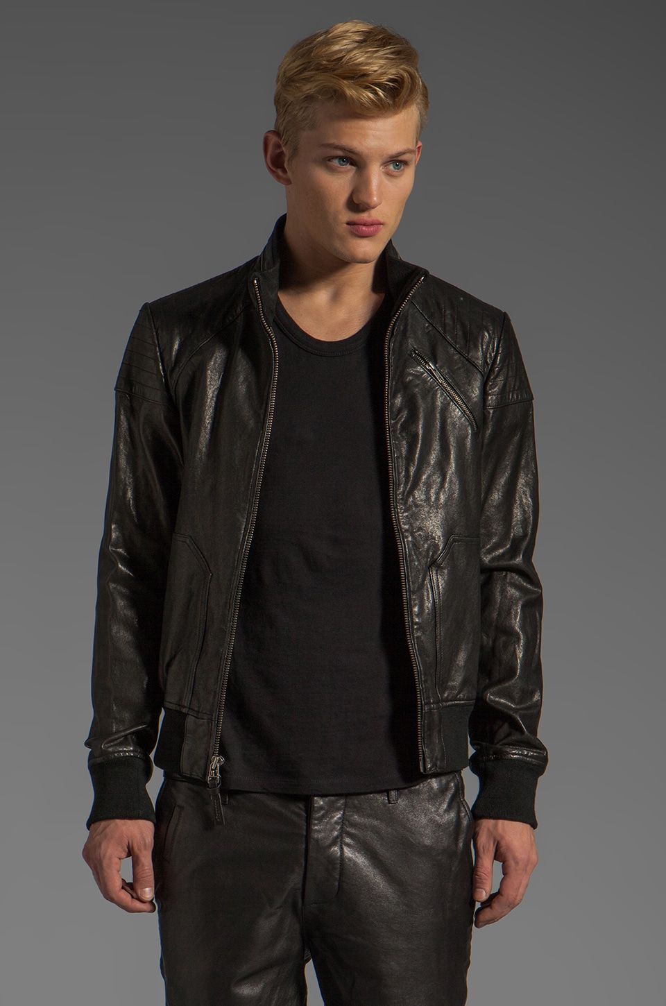 Mackage Marco Leather Jacket in Black