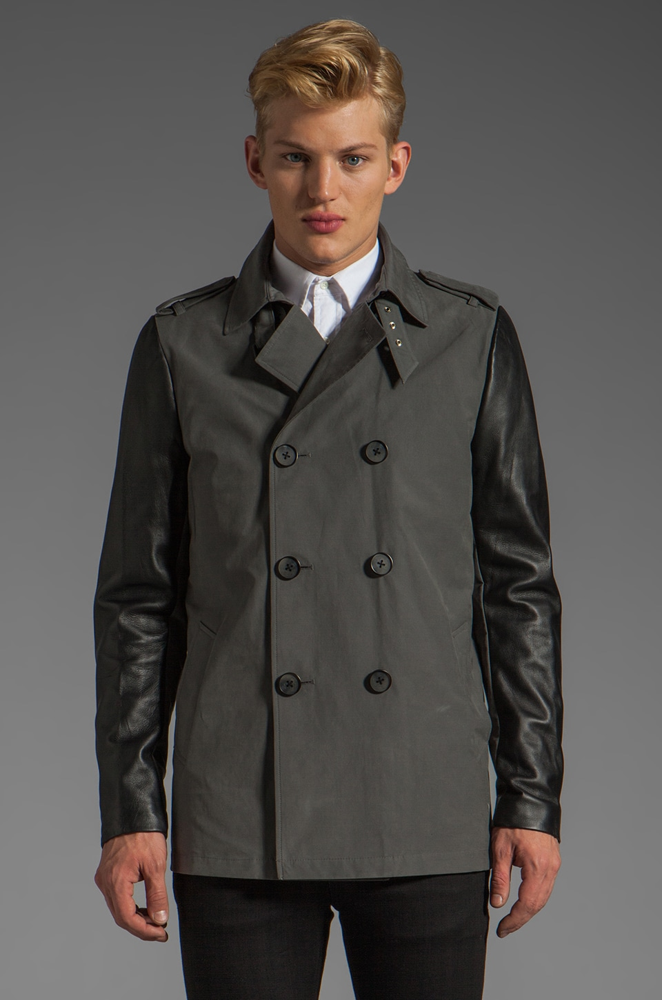 Mackage Spencer Peacoat in Gunmetal