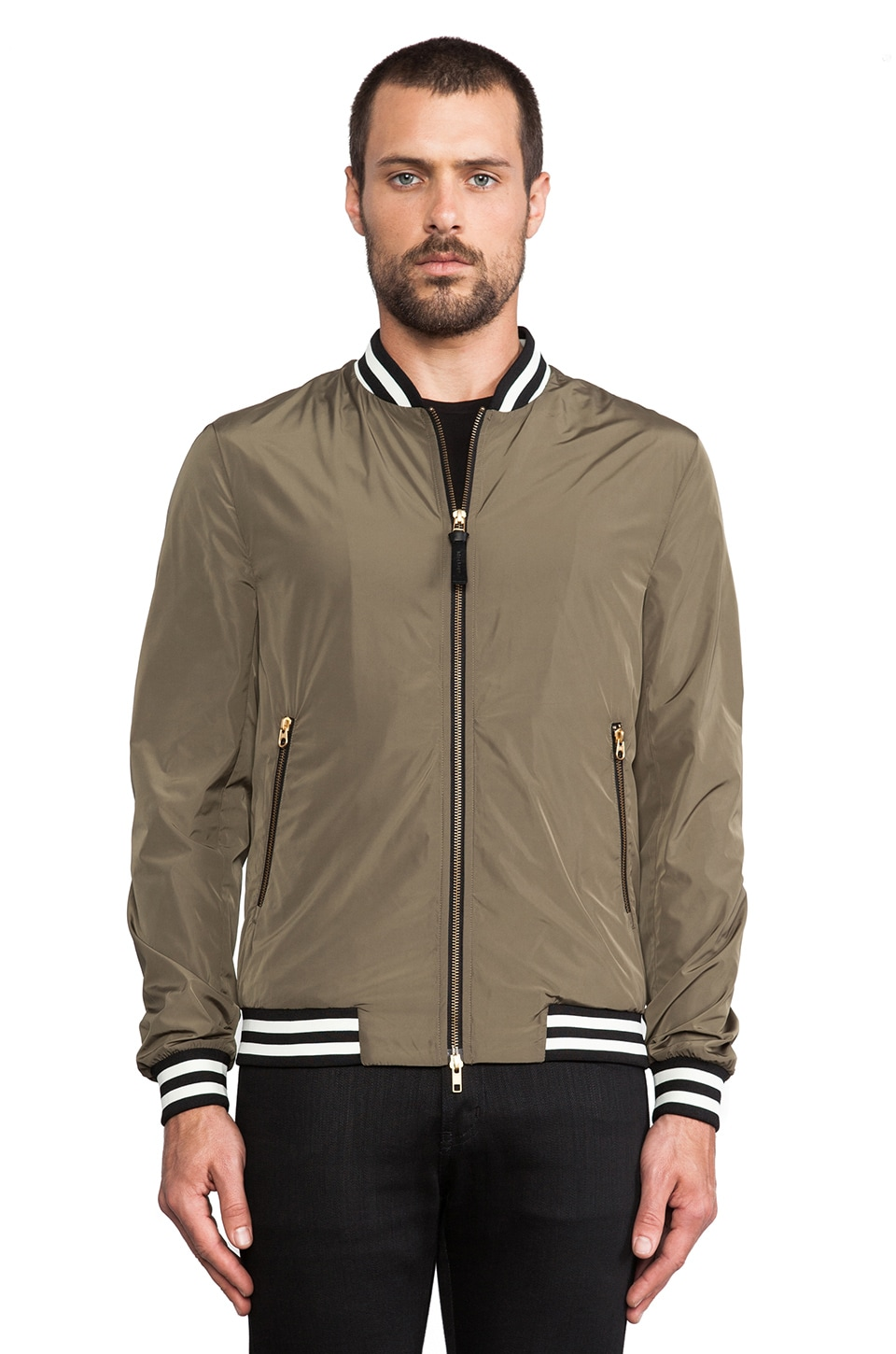 Mackage Eugene Rainwear Bomber in Khaki