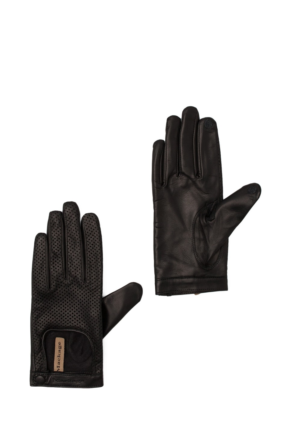 Mackage Edwina Ladies Leather Gloves in Black