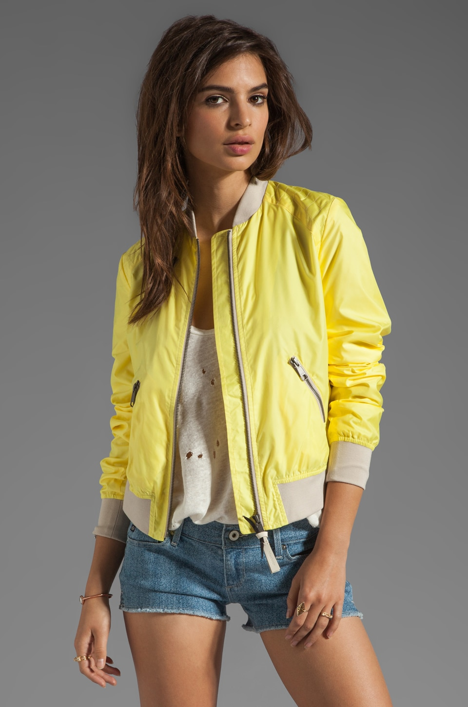 Mackage Meri Packable Rainwear Jacket in Neon Yellow
