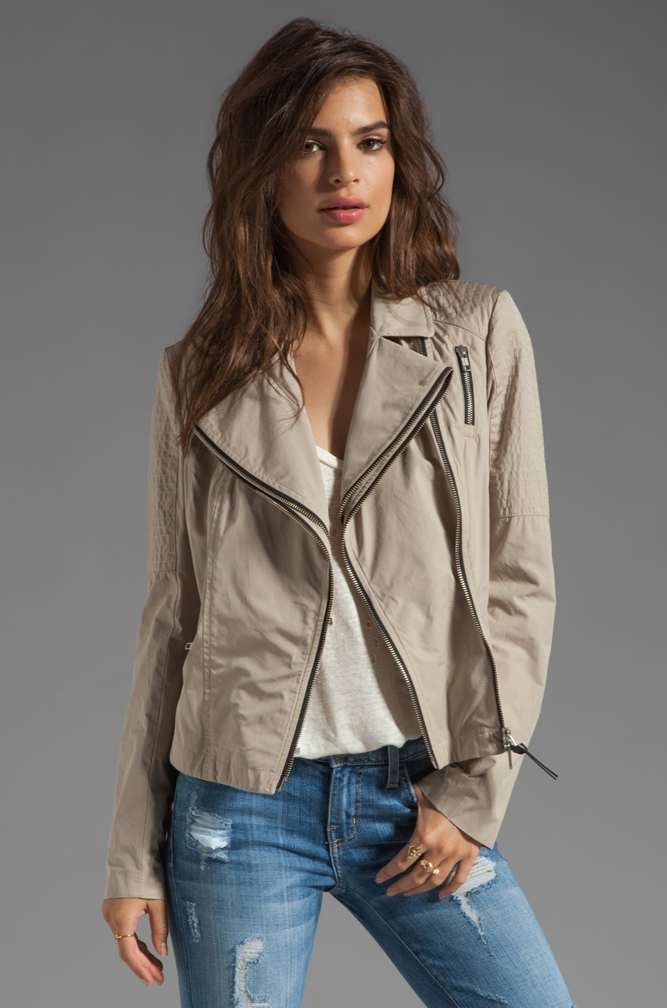 Mackage Nellie Pop Trench Jacket in Sand