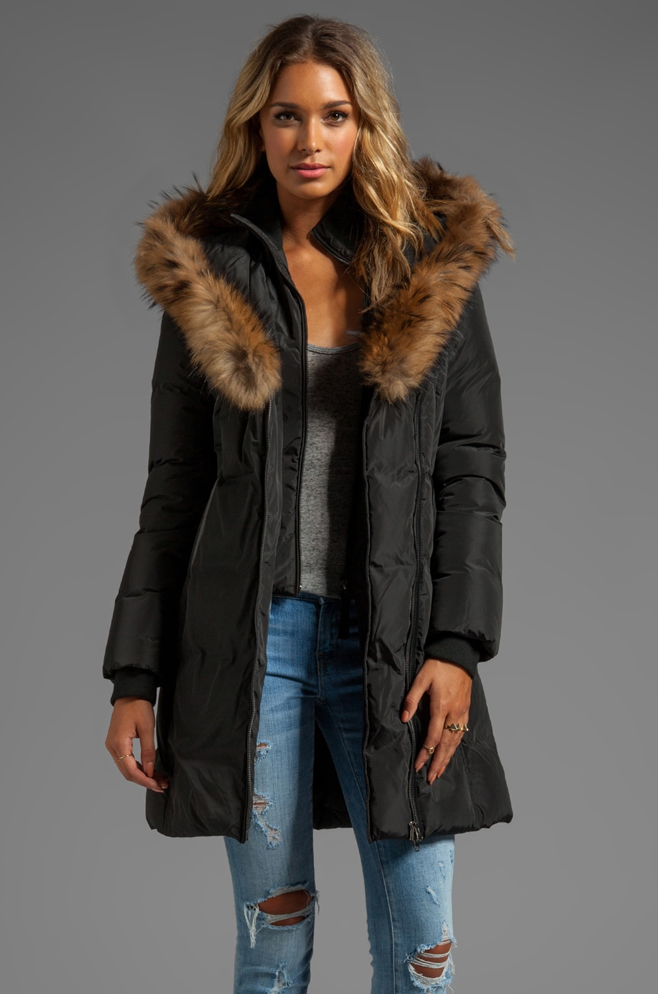 Mackage Kay Lavish Down Coat in Black