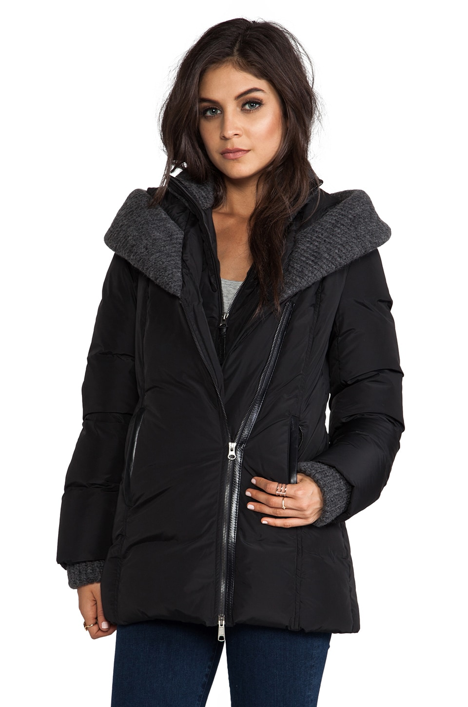 Mackage Troya Lavish Down Coat in Black