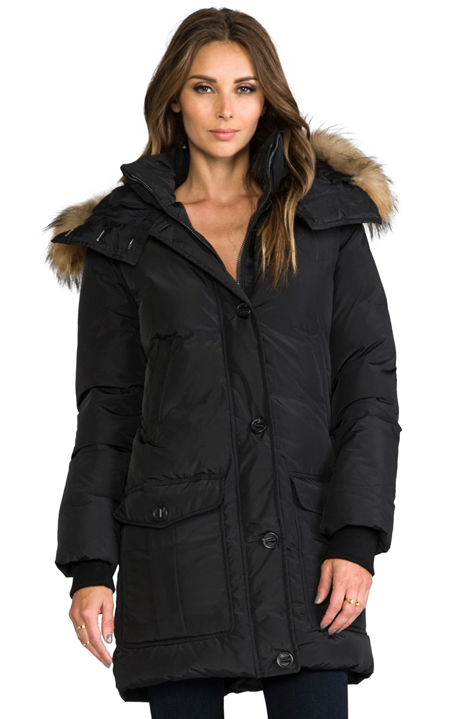 Mackage Chaska Lavish Down Jacket in Black