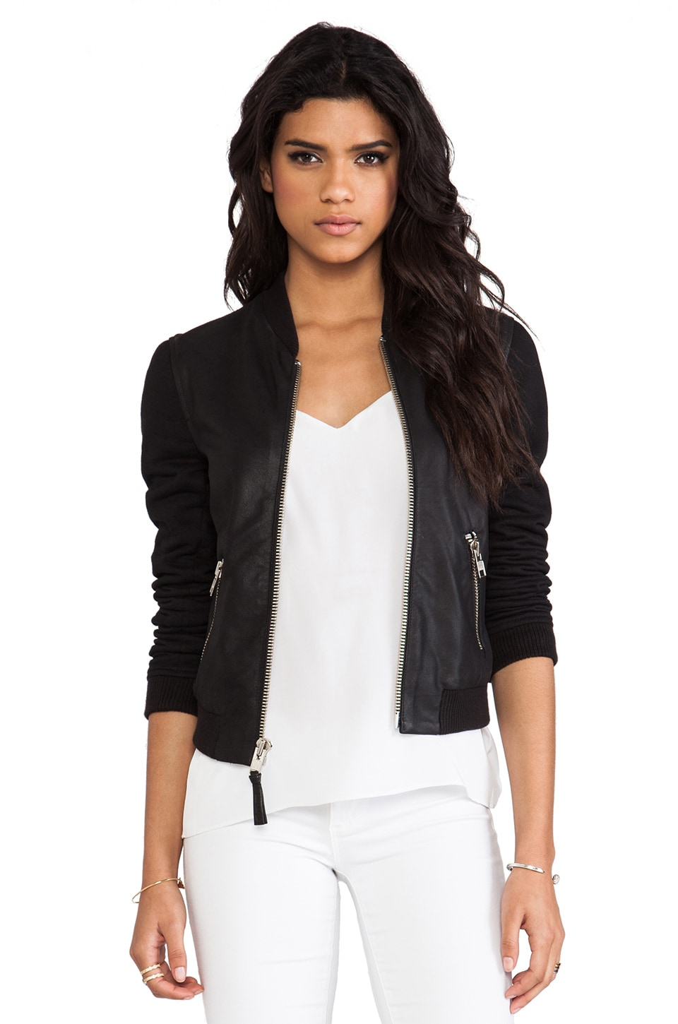 Mackage Jennifer Lux Leather Jacket in Black