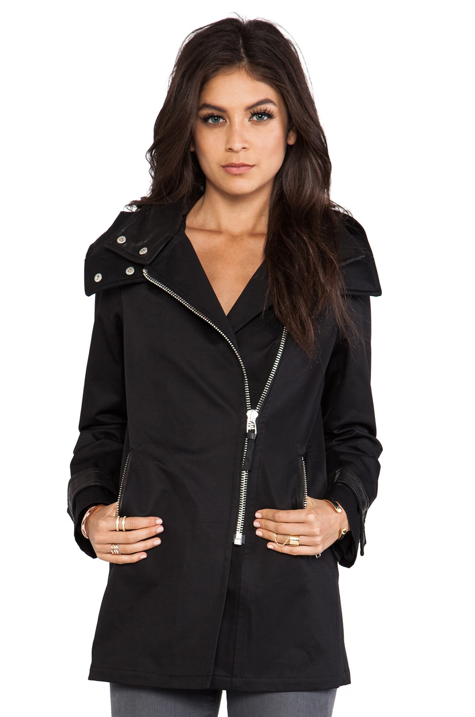 Mackage Darby Neo Trench in Black