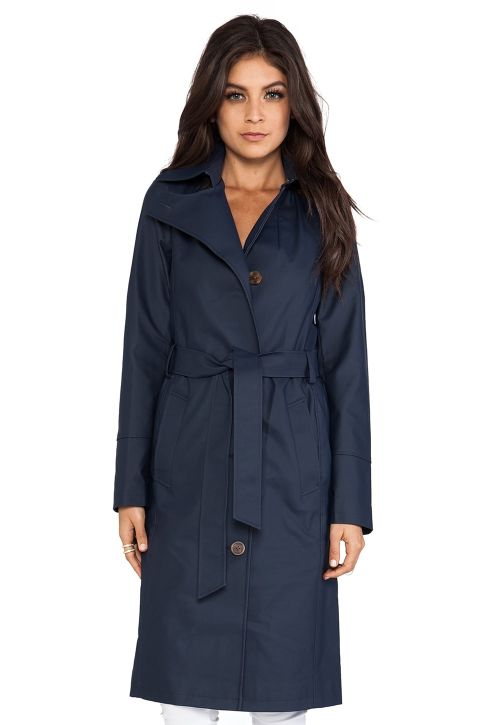 Mackage Lane Classic Trench in Navy