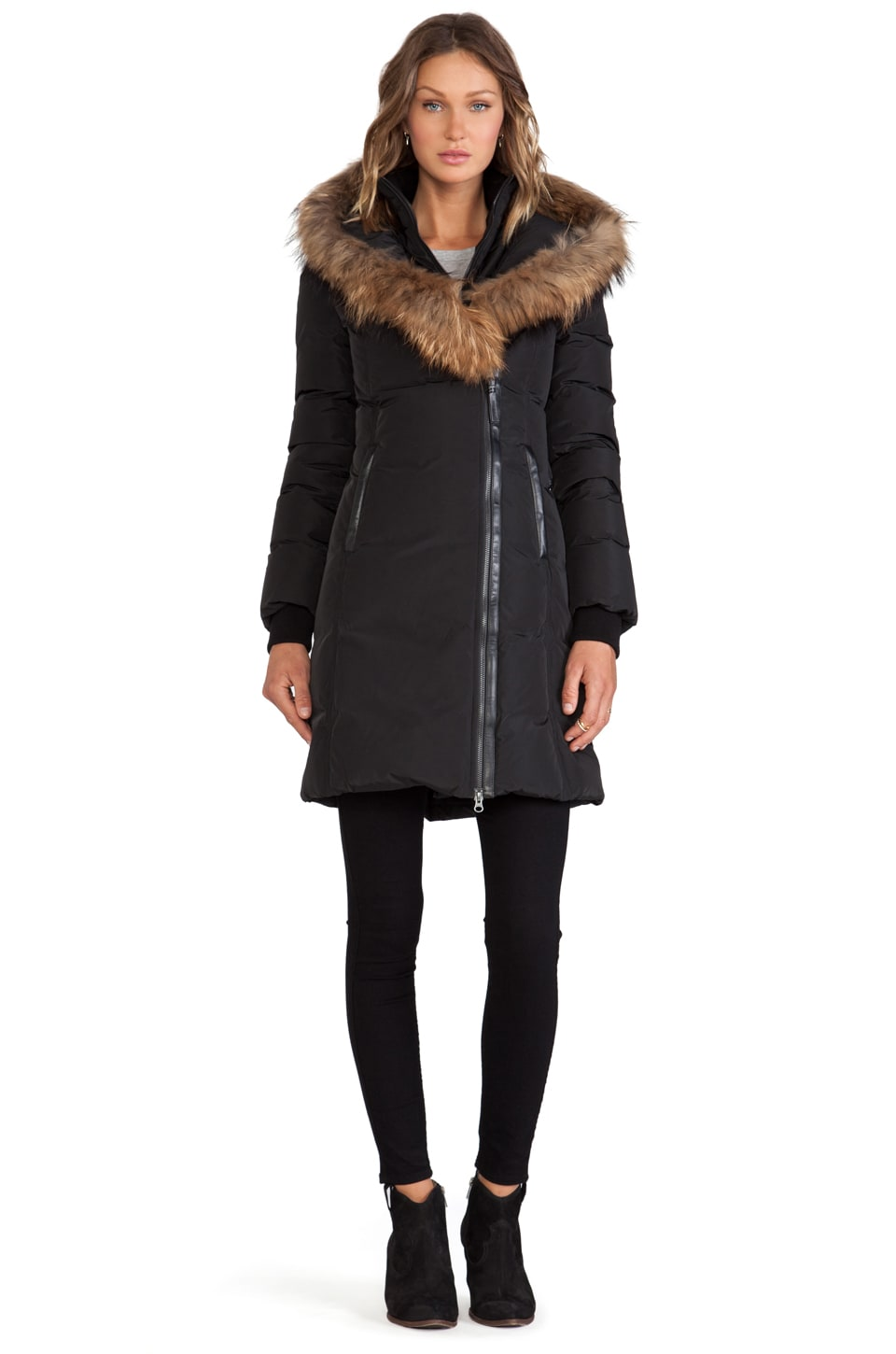 Mackage Kay Jacket With Real Natural Fur in Black